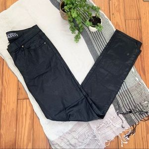 NY & Co. Black Metallic Wash Skinny Jeans